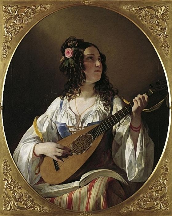 Amerling,Friedrich (1803-1887) Lautenspielerin (559x700, 323Kb)