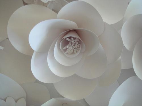 Объемные цветы из бумаги своими руками схемы шаблоны на стену