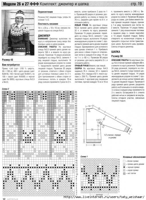 Скандинавское вязание спицами схемы с описанием и