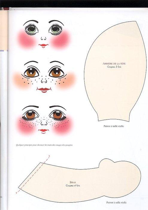 Сшить голову куклы из ткани 114