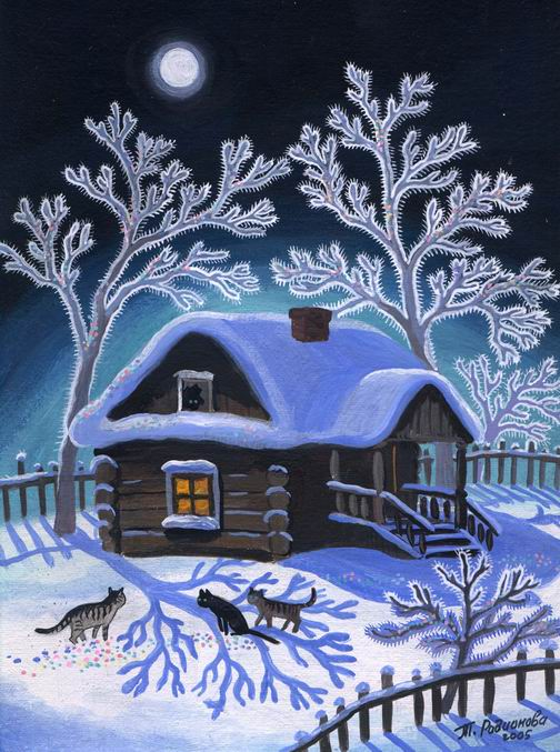 Зимний домик для кота