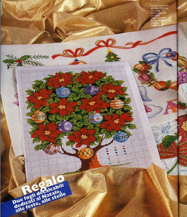 дерево рождественское карт