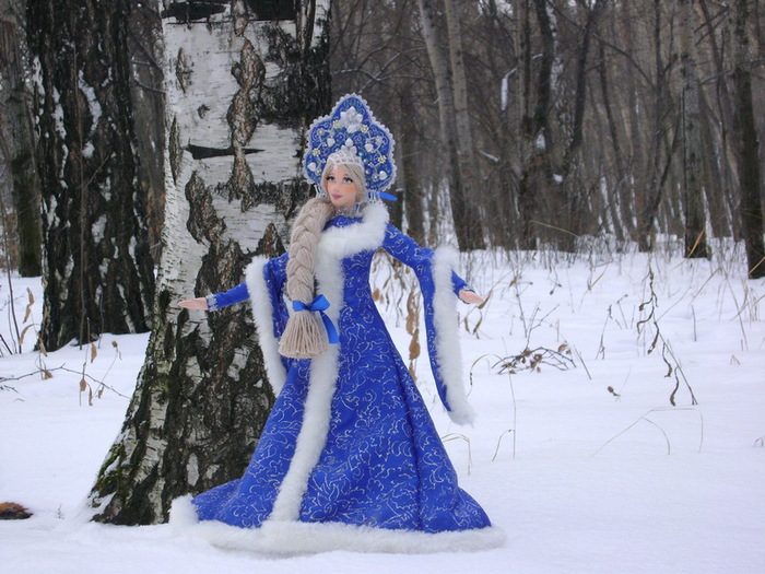 Как сделать снегурочку своими руками фото