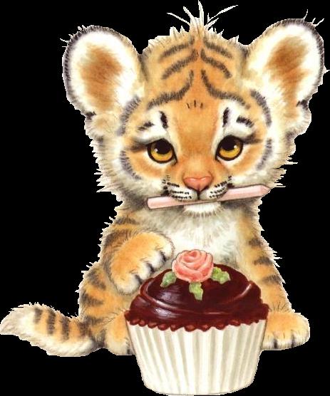Детская открытка тигр 34