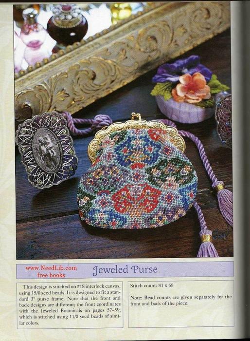 Множество оригинальных дизайнов по вышивке бисером.