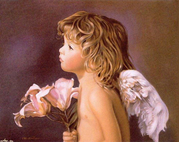 Цветы и ангелы картинки 4