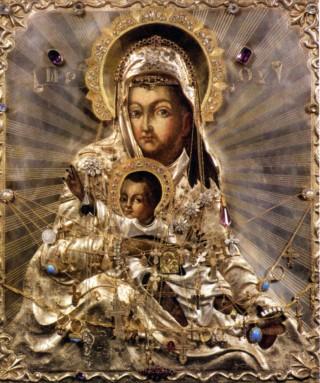 «Милостивая» Киккская икона Божией Матери. (320x383, 49Kb)