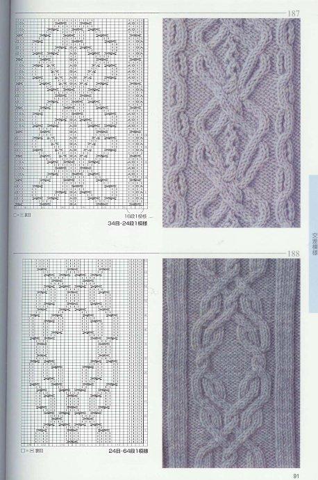 красивые узоры для вязания спицами со схемами - Сделай сам!