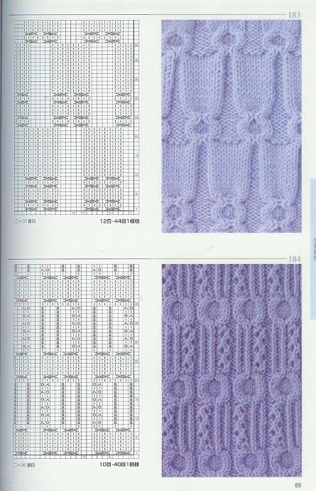 Узоры для вязания спицами и схемы для вязания, вязание на спицах.