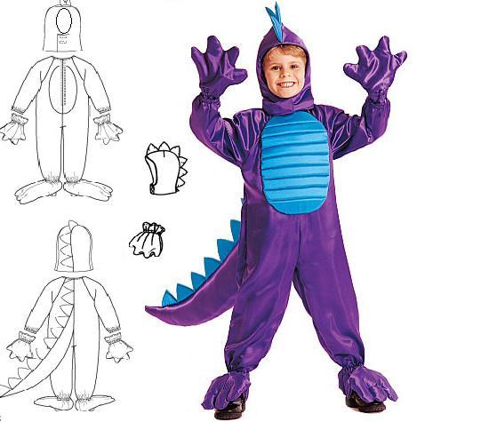 Как сделать костюм на новый год дракона