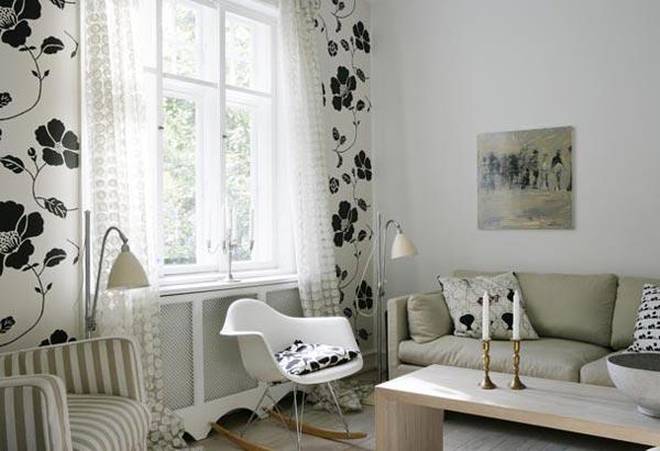 красивые интерьеры в черно-белой гамме. черно-белый интерьер, фото...
