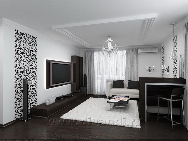 Фото черный и белый дизайне квартир