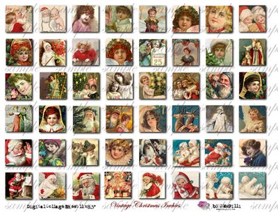 188  w Vintage Christmas Inchies (400x305, 45Kb)