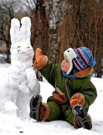 снежный зайчик (360x469, 53Kb)