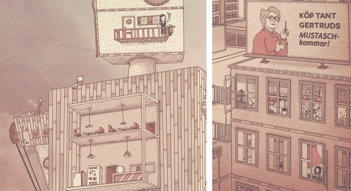 Фантастичные графические иллюстрации от Johan Thornqvist