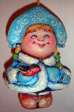 Елочная игрушка своими руками из папье маше