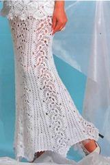 Вязание юбок ленточным кружевом 145
