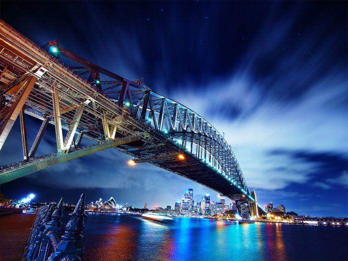 HDR мост вечер (700x525, 94Kb)