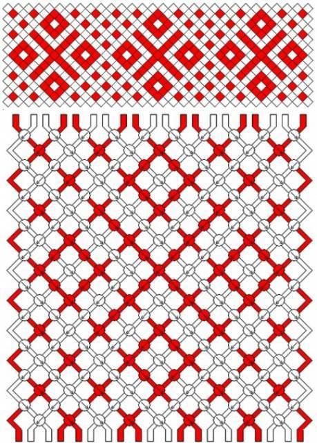 фенечки узоры прямое плетение схемы