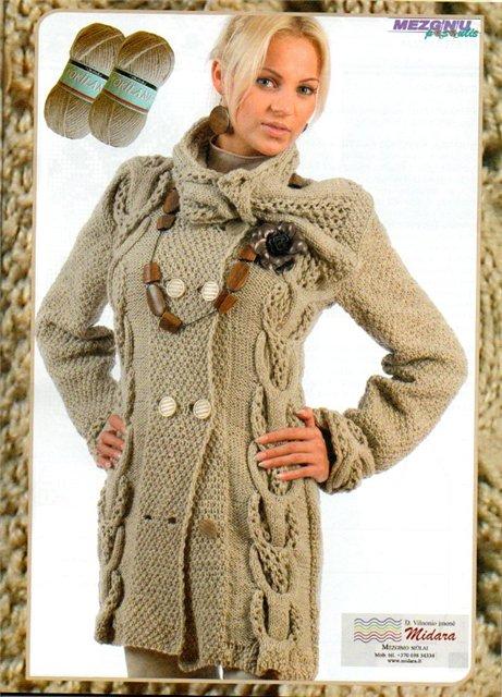Вязание-спицы-Пальто+костюмы+