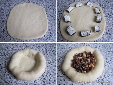 Плетение булочек с фото