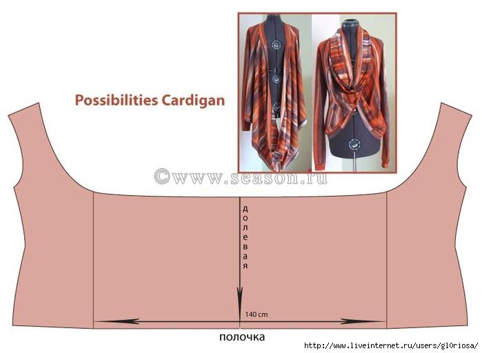 Кардиган-трансформеры своими руками