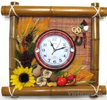 Часы с картиной своими руками