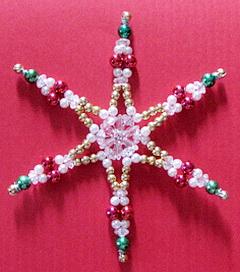Технология бисероплетения, плетение снежинки из бисера, как сделать снежинку из бисера, снежинки из бусин, снежинки из бисера своими руками/4394340_snejinka_iz_bisera17 (240x272, 33Kb)