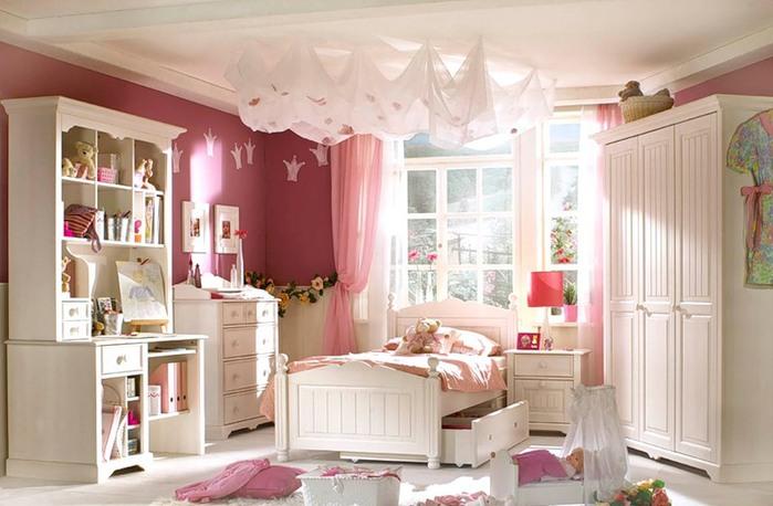 мебель для детской комнаты белая для девочки желательно
