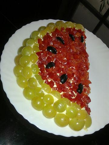 заре буди, салат долька арбуза рецепт с виноградом улыбаемся, может