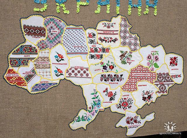 украина карта вышиванка