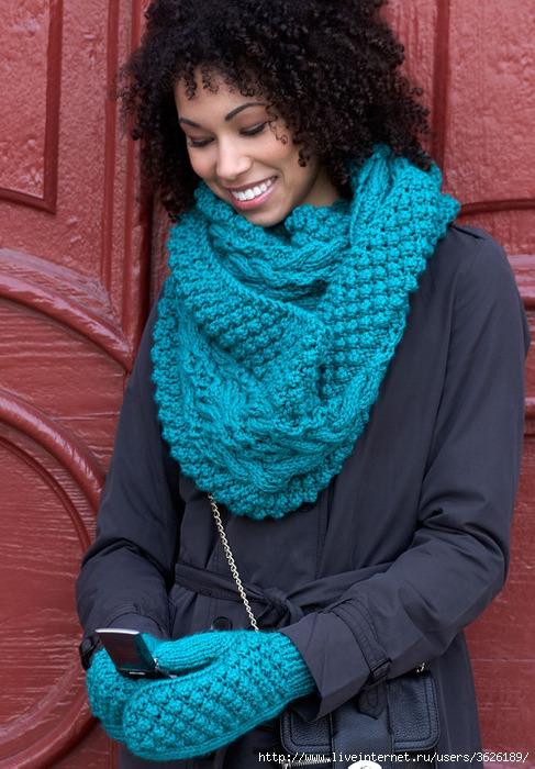 Схема вязки шарфа 4