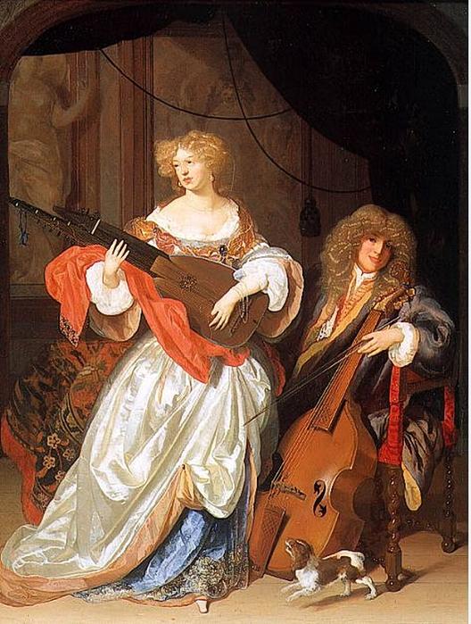 Werff, Adriaen van der (1659-1722) - Couple music (528x700, 326Kb)