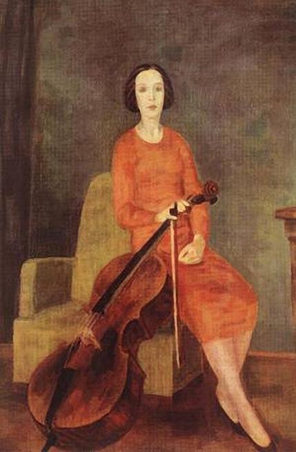 Robert Bereny.Woman_Playing_the_Cello_II_1937 (429x656, 185Kb)