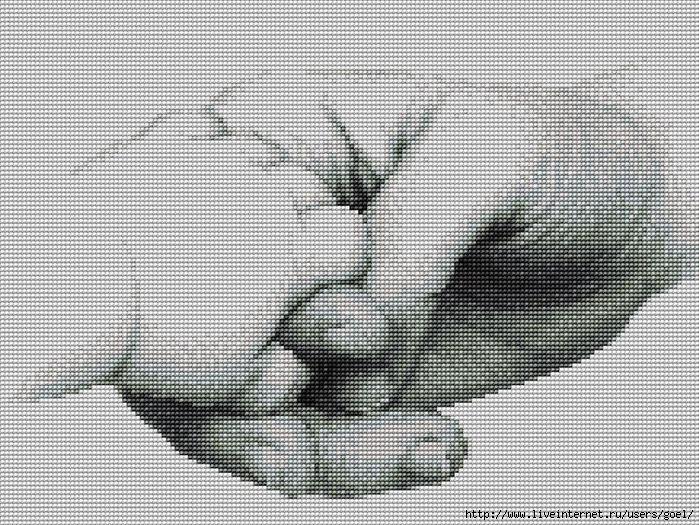 Вышивка. Рука в руке