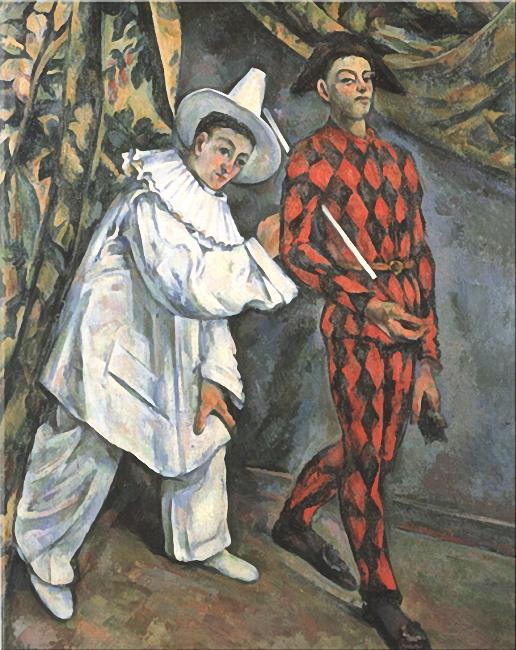 Paul Cezanne - Pierrot i arlekin, 1888 (516x650, 346Kb)