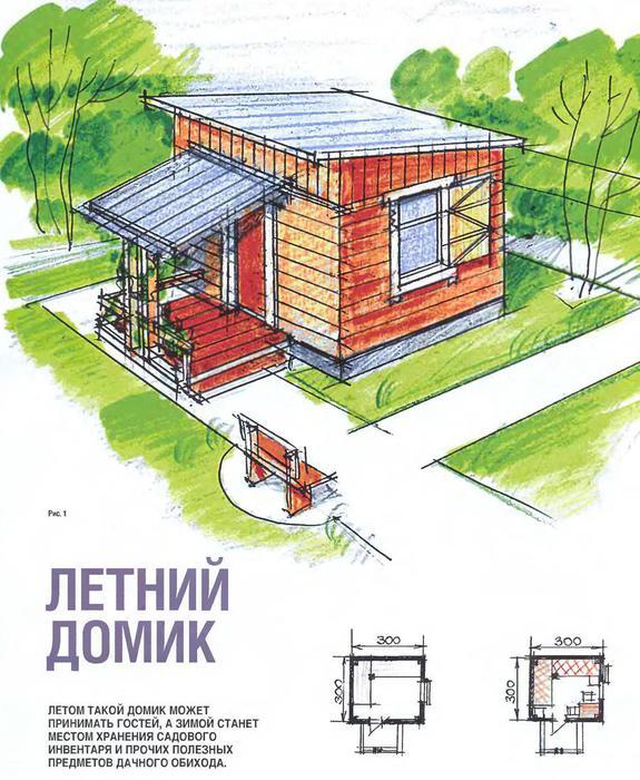 Строим летний домик на даче