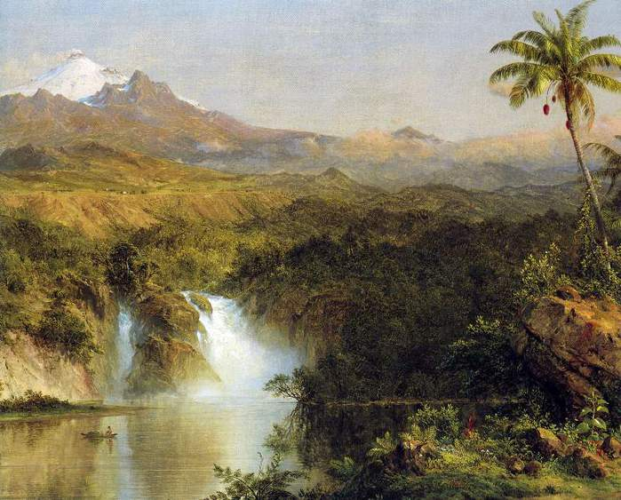 View of Cotopaxi, Ecuador Detail by Frederick Edwin Church (700x563, 71Kb)