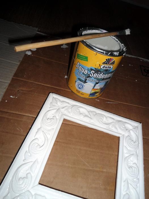 Рамка для картины своими руками из плинтуса со стеклом