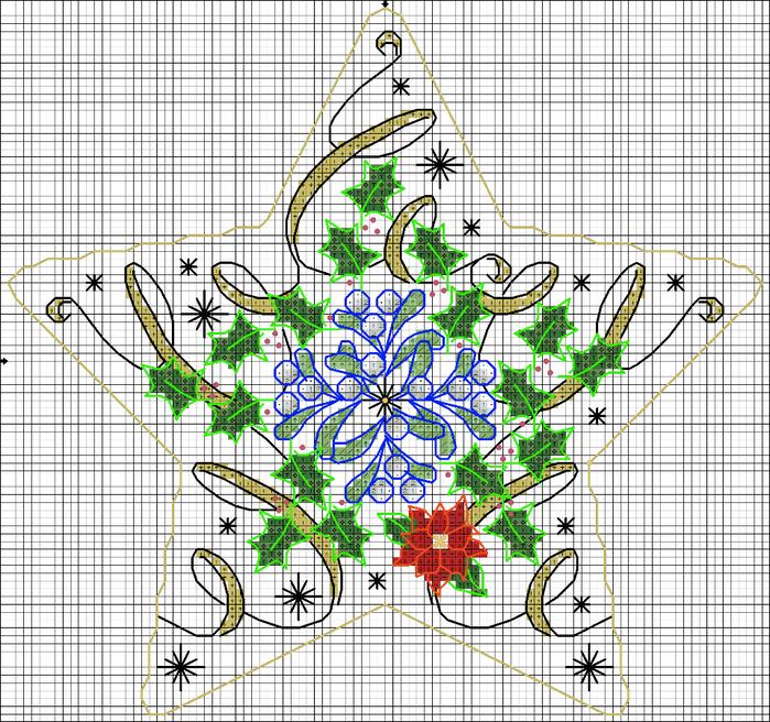 звезда рождество схема (700x656, 558Kb)