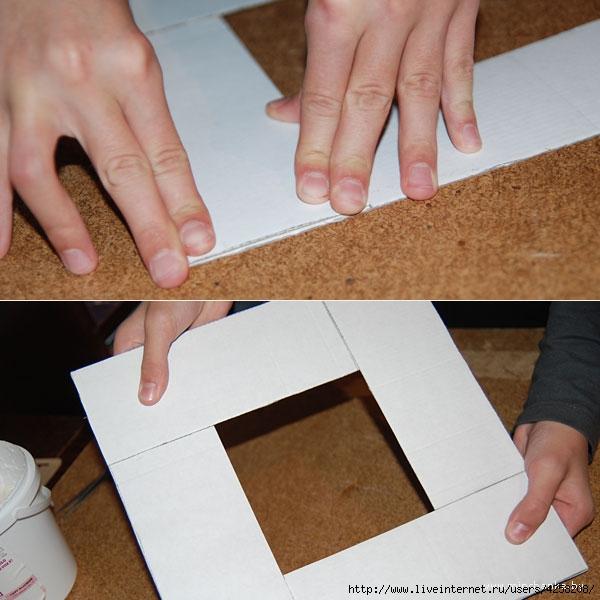 Как из бумаги сделатьрамку своими руками