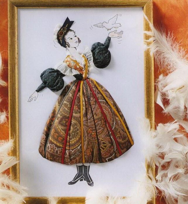 Картины из ткани объемные