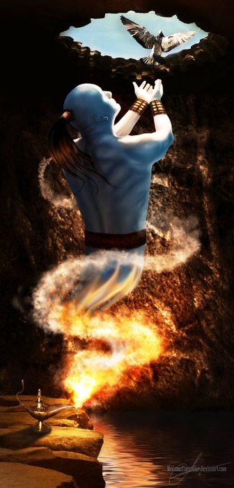 The_genie_in_the_cave__by_MadameThenadier (336x700, 182Kb)