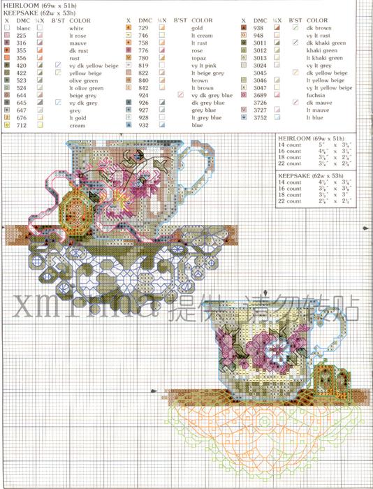 Схема вышивки чашка 26