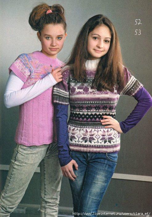 Вязание джемперов для девочек подростков