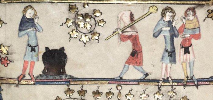 гравюра с изображением Ударь по горшку (700x328, 59Kb)