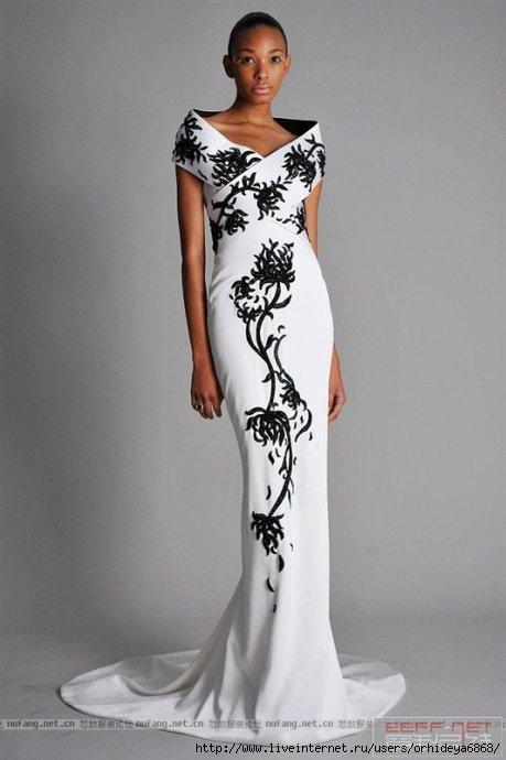 Длинное вечернее белое платье фото 7