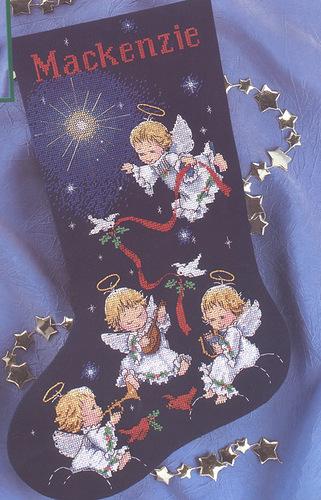 новогодний сапог ангелы картинка (321x500, 95Kb)