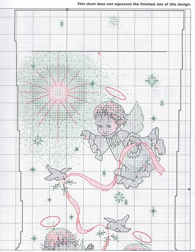 новогодний сапог ангелы схема