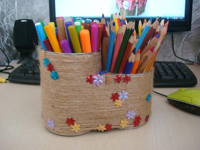 Подставки для ручек карандашей своими руками